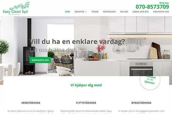 Enkel och lätthanterlig hemsida
